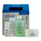 Philosophy Clear Days Ahead Kit: Cleanser 90ml/3oz + Moisturizer 15ml/0.5oz + Treatment Pads 30 pads + Spot Treatment 7ml/0.25oz