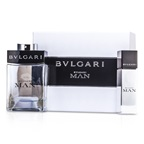 Bvlgari Man Coffret: EDT Spray 100ml/3.4oz + EDT Travel Spray 15ml/0.5oz