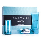Bvlgari Aqva Pour Homme Marine Coffret: EDT Spray 100ml/3.4oz + Deodorant Stick 75g/2.7oz + After Shave Emulsion 100ml/3.4oz