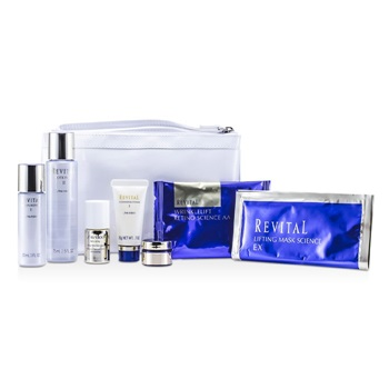 Shiseido Revital Set: Cleansing Foam 20g + Lotion EX II 75ml + Serum 10ml + Moisturizer EX II 30ml + Cream 7ml + Eye Mask + Mask + Bag