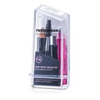Tweezerman Mini Brow Rescue Kit: Slant Tweezer + Browmousse + Brow Brush + Eyenhance Brow Highlighter (Studio Collection)