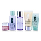 Clinique Exclusive Set: DDML Plus 50ml + All About Eyes 15ml + Liquid Soap 30ml + Clarifying Lotion #2 60ml + Makeup Remover 50ml