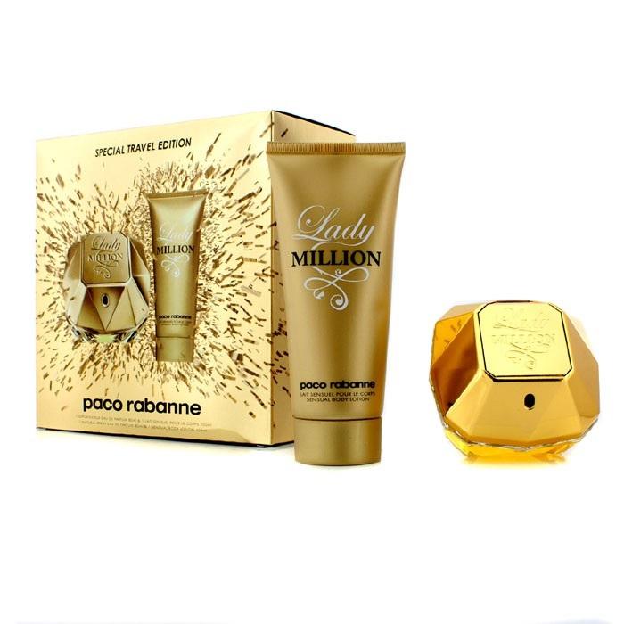 Paco rabanne 1 million gift set 50ml edt + 10ml edt travel spray.