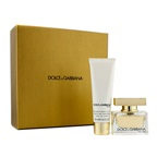 Dolce & Gabbana The One Coffret: EDP Spray 30ml/1oz + Body Lotion 50ml/1.6oz (Champagne Gold Box)