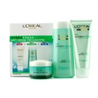 L'Oreal Hydrafresh Anti-Shine Programme: Icy Toner 200ml + Foam 100ml + Icy Gel 50ml