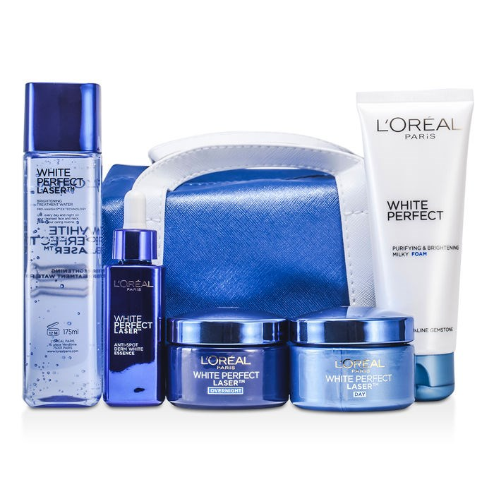 L'Oreal White Perfect Laser Ritual: Treatment Water 175ml + Foam 100ml + Day. Loading zoom
