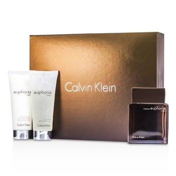 Calvin Klein Euphoria Intense Coffret: EDT Spray 100ml/3.4oz + After Shave Balm 100ml/3.4oz + Body Wash Gel 100ml/3.4oz