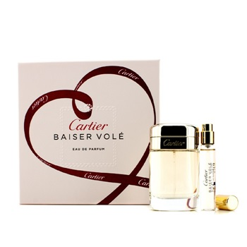 Cartier Baiser Vole Coffret: EDP Spray 50ml/1.6oz + EDP Spray 9ml/0.3oz