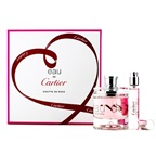 Cartier Eau De Cartier Goutte De Rose Coffret: EDT Spray 50ml/1.6oz + EDT Spray 9ml/0.3oz