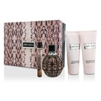Jimmy Choo Jimmy Choo Coffret: EDP Spray 100ml/3.4oz + Body Lotion 100ml/3.3oz + Shower Gel 100ml/3.3oz + EDP Roll On 10ml/0.33oz