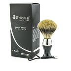 EShave Short Brushes Nickel Pastic Handle - # Black