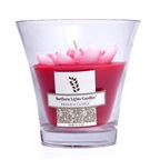 Northern Lights Candles Floral Vase Premium Candle - Red Water Lily