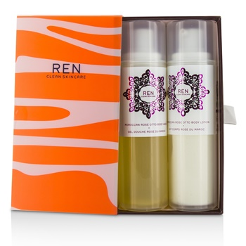 Ren Morococann Rose Duo: Body Wash 200ml/6.8oz + Body Lotion 200ml/6.8oz