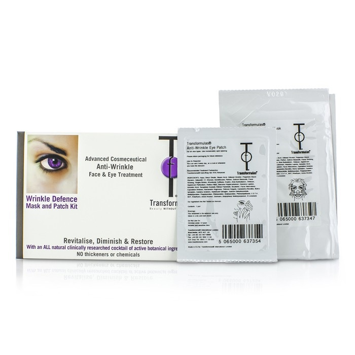 Transformulas - Wrinkle Defence Mask And Patch Kit: 1x Facial Mask, 1x Eye Patches - 2pcs Conair Facial Sauna System