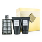 Burberry Brit Coffret: EDT Spray 100ml/3.3oz + Body Cleansing Gel 100ml/3.3oz + After Shave Balm 100ml/3.3oz (Gold Box)