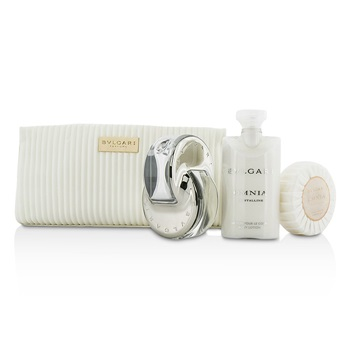 Bvlgari Omnia Crystalline Coffret: EDT Spray 65ml/2.2oz + Soap 75g/2.6oz + Body Lotion 75ml/2.5oz + Pouch