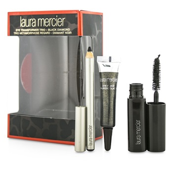 Laura Mercier Eye Transformer Trio (1x Mini Eye Glace 4g + 1x Mini Kohl Eye Pencil 0.85g + 1x Mini Mascara 5.7g) - Black Diamond