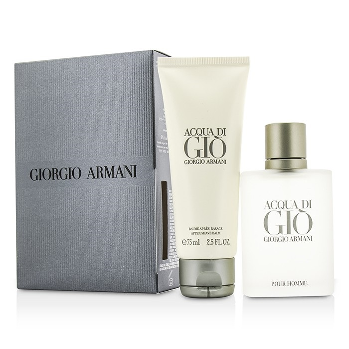 Giorgio Armani Acqua Di Gio Coffret: EDT Spray 50ml/1.7oz + After Shave Balm 75ml/2.5oz