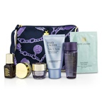 Estee Lauder Travel Set: Makeup Remover + Optimizer + ANR II + Eye Cream + Eye Mask + Lip Conditioner + Bag