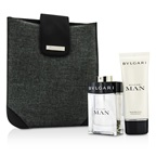 Bvlgari Man Coffret: EDT Spray 100ml/3.4oz + After Shave Balm 100ml/3.4oz + Bag