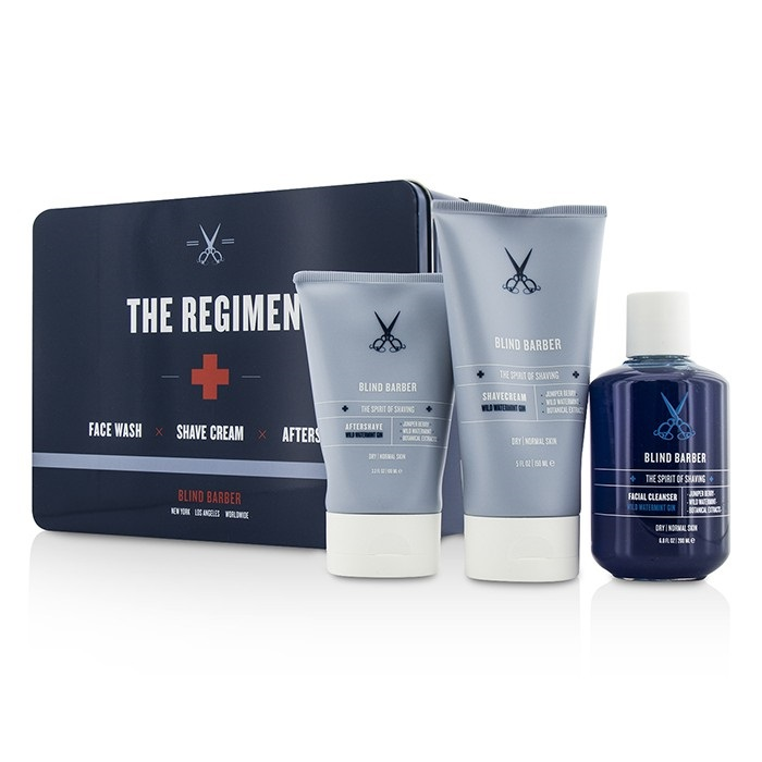 Blind Barber The Regimen Set: Facial Cleanser 200ml/6.8oz + Shave Cream 150ml/5oz + After Shave 100ml/3.3oz