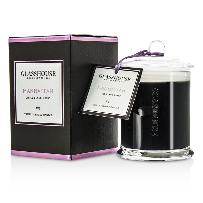 Glasshouse Triple Scented Candle - Manhattan (Little Black Dress)