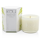 iKOU Eco-Luxury Aromacology Natural Wax Candle Glass - Calm (Lemongrass & Lime)