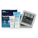 Bliss 'Night Night' Facial In A Box: Makeup melt gel-to-oil Cleanser 20ml + Clay Mask 2x4g + Triple Oxygen Moisture Cream 5ml