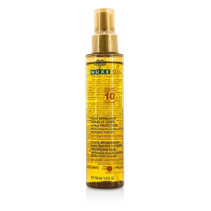 Nuxe Nuxe Sun Tanning Oil For Face & Body Low Protection SPF 10