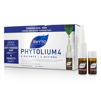 Phyto PhytoLium 4 Chronic and Severe Anti-Thinning Hair Concentrate (For Thinning Hair - Men)