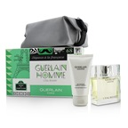 Guerlain Homme L'Eau Boisee Coffert: EDT Spray 80ml/2.7oz + Hair and Body Wash 75ml/2.5oz + pouch