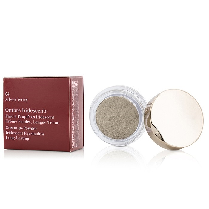 Clarins Ombre Iridescente Cream To Powder Iridescent Eyeshadow - #04 Silver Ivory
