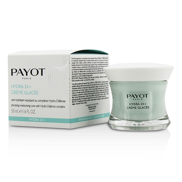 Payot Hydra 24+ Creme Glacee Plumpling Moisturizing Care - For Dehydrated, Normal to Dry Skin