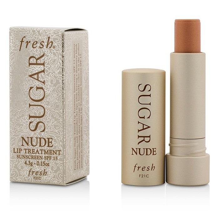 NEW Fresh Sugar Lip Treatment SPF 15 - Nude 0.15oz Womens Skincare ... ae414b9fd3