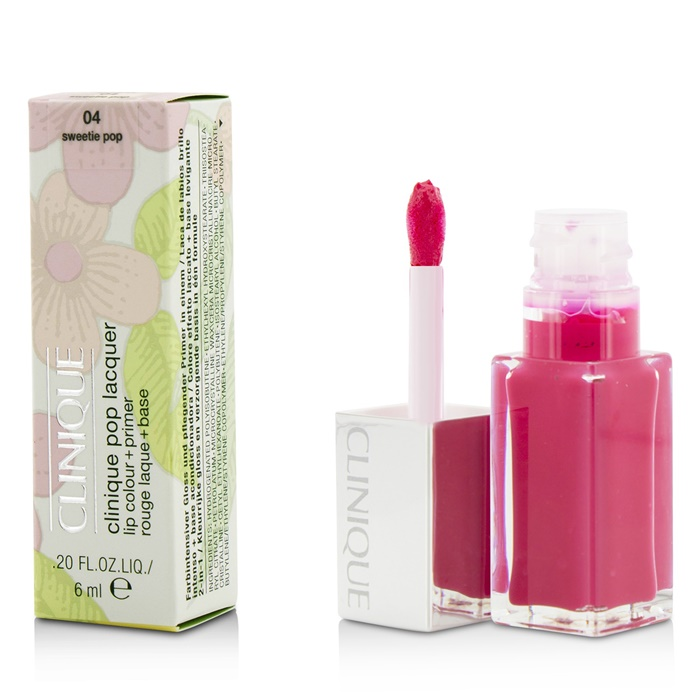 Clinique Pop Lacquer Lip Colour + Primer  - # 04 Sweetie Pop