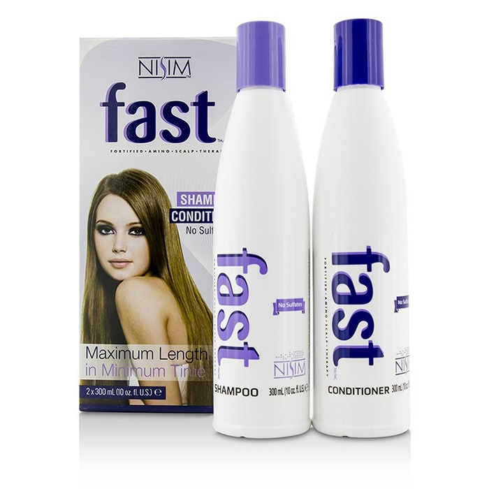 Nisim F.A.S.T Fortified Amino Scalp Therapy 2 Pack - No Sulfates : Shampoo 300ml + Conditioner 300ml