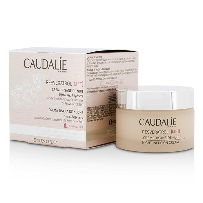 caudalie resveratrol lift night infusion cream the beauty club shop skincare. Black Bedroom Furniture Sets. Home Design Ideas