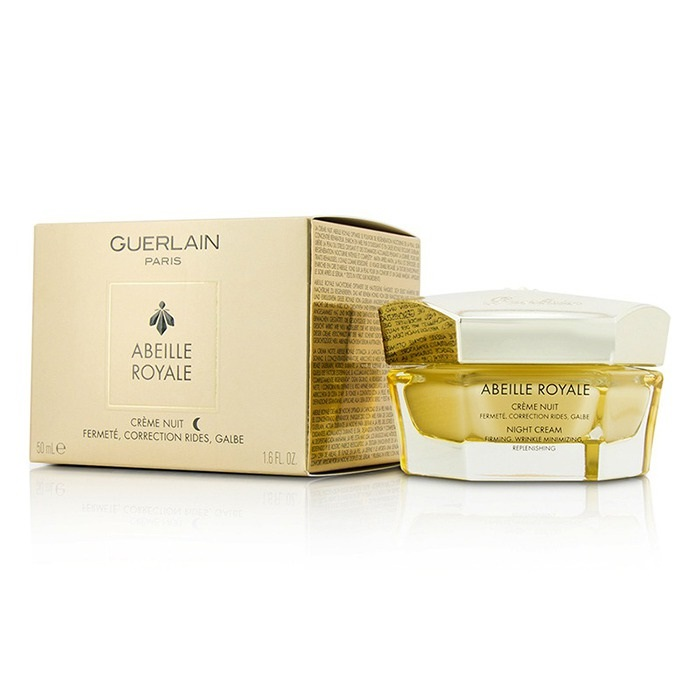 Guerlain Abeille Royale Night Cream Moraz Natural Pomegranate and Polygonum Day Cream for Normal to Oily Skin enriched wih Shea and Cocoa Butters. 1.7 fl. Oz.