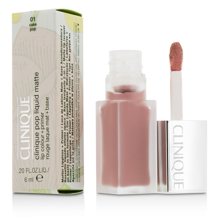 Clinique Pop Liquid Matte Lip Colour + Primer - # 01 Cake Pop