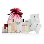 SK II Travel Set: Cleanser 20g + Clear Lotion 30ml + Essence 30ml + Essence 10ml + Serum 10ml + Cream 15g + Eye Cream 2.5g
