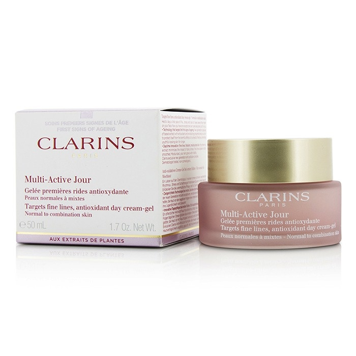Clarins Multi-Active Day Targets Fine Lines Antioxidant Day Cream-Gel - For Normal To Combination Skin