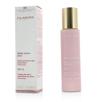 Clarins Multi-Active Day Targets Fine Lines Antioxidant Day Lotion - For All Skin Types