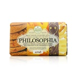 Nesti Dante Philosophia Natural Soap - Scrub - Mediterranean Plum, Persimmon & Amber With Bran & Walnut Granules