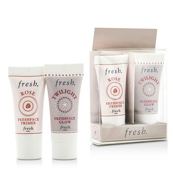 Fresh Prime & Glow Set Duo Pack : 1x Mini Rose Freshface Primer, 1x Mini Twilight Freshface Glow
