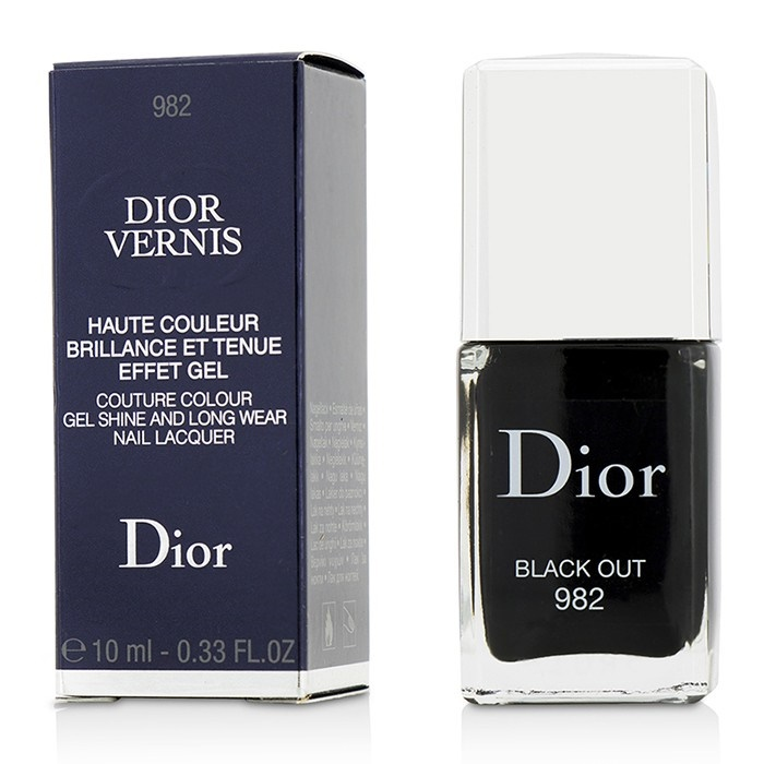 Christian Dior Dior Vernis Couture Colour Gel Shine & Long Wear Nail Lacquer - # 982 Black Out