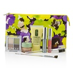 Clinique Travel Set: DDML+All About Eyes+Eye Shadow Quad+Mascara+Long Last Glosswear+Brushx2+Bag