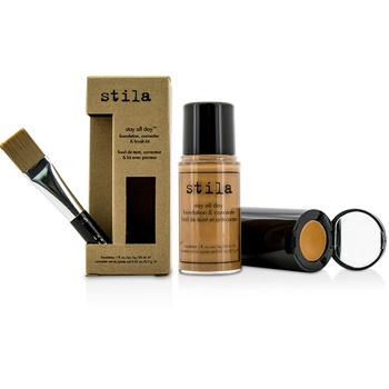 Stila Stay All Day Foundation, Concealer & Brush Kit - # 12 Tan (Box Slightly Damaged)
