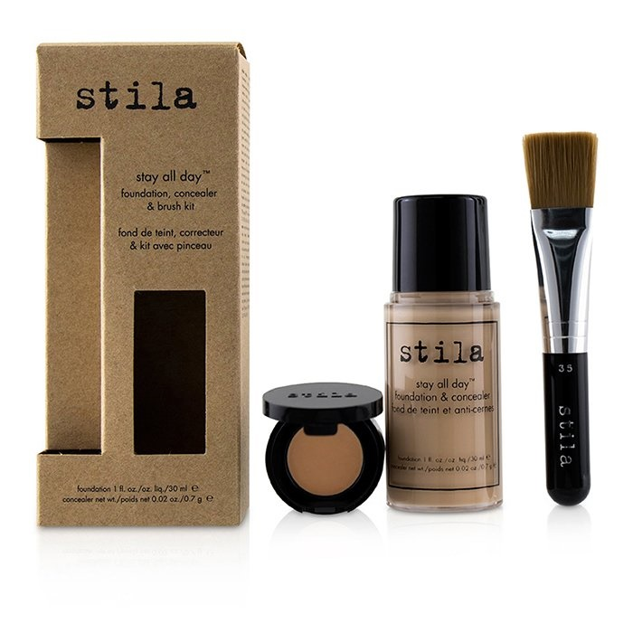 Stila Stay All Day Foundation, Concealer & Brush Kit - # 1 Bare