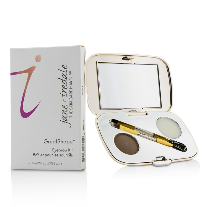 Jane Iredale GreatShape Eyebrow Kit (1x Brow Powder, 1x Brow Wax, 1x Applicator) - Brunette