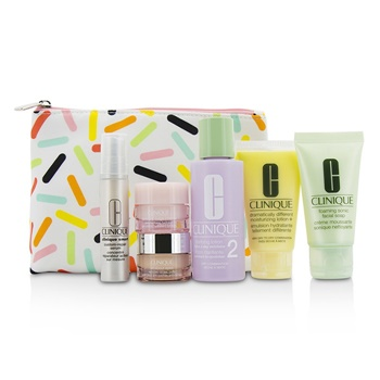 Clinique Travel Set: Sonic Facial Soap + Clarifying Lotion 2 + DDML + Smart Serum + Moisture Surge Intense +